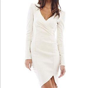 AX Paris Champagne Padded Shoulder Dress
